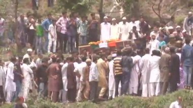 Martyr Aurangzeb Laid to Rest as Hundreds Attend His Last Rites in Poonch, Father Says 'My Son Kept His Promise'
