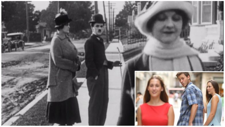 Charlie Chaplin Invented The Distracted Boyfriend Meme, Pic Goes Viral Along With New Memes