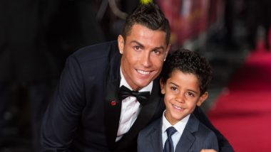 Cristiano Ronaldo Jr Scoring a Goal at Family's Backyard Will Leave CR7 Smiling Ear to Ear (Watch Video)