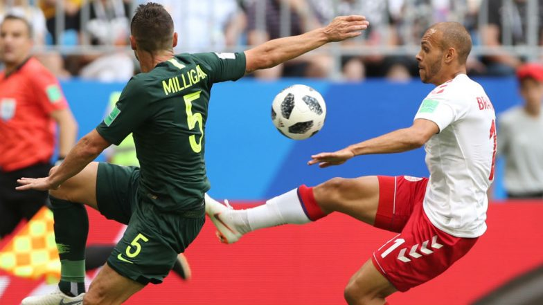 Denmark vs Australia Match Result and Highlights: Denmark, Australia Grind Out a 1-1 Draw in Group C of 2018 FIFA World Cup