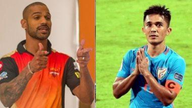 India vs Kenya Football Match: Shikhar Dhawan Wishes Sunil Chhetri Ahead of His 100th International Appearance