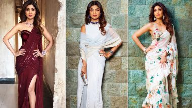 Shilpa Shetty Birthday Special: 15 Times the Diva Gave the Saree a Quirky Twist and Absolutely Rocked It