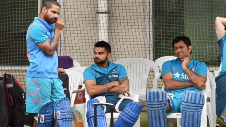 Virat Kohli and MS Dhoni Have New Names, All Thanks to Shikhar Dhawan; Watch Video
