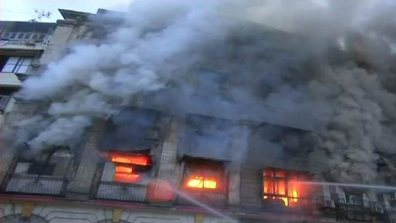 Mumbai: Massive Fire in Patel Chambers Located in Fort Area, 2 Firefighters Injured