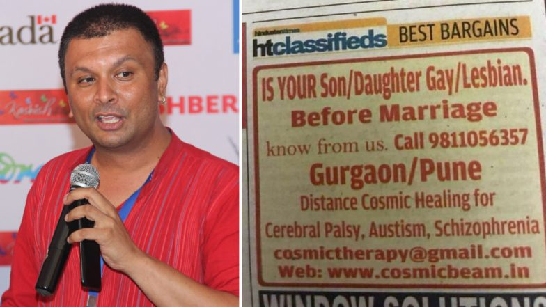 Ad to Cure Gays & Lesbians in a Prominent Newspaper: LGBTQ Activist Harrish Iyer Makes the Publication Apologise!