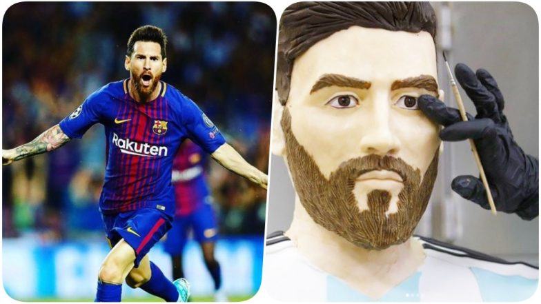 Lionel Messi Birthday Special: Fan Make Life-Size Chocolate Figure to Celebrate as Barcelona Forward turns 31
