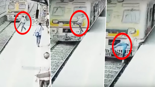 Suicide in Front of Mumbai Local Train in Malad, Caught on Video!