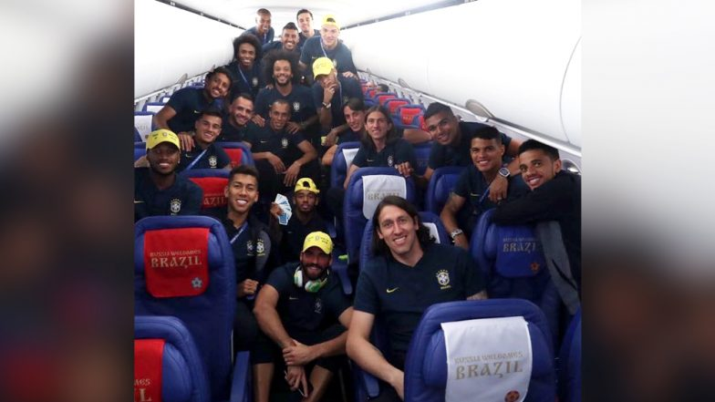 2018 FIFA World Cup Diaries: Neymar Jr Posts a Picture With Team Brazil Post Winning Over Serbia by 2-0
