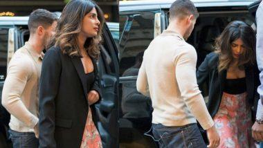 Priyanka Chopra and Nick Jonas Arrive in Mumbai for Actress' Housewarming Party (View Pics)