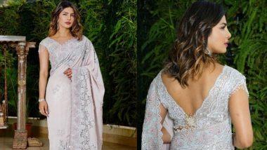 Desi Girl Priyanka Chopra Looks Gorgeous in a Tarun Tahiliani Sari at Akash Ambani-Shloka Mehta's Pre-Wedding Function - View Pics