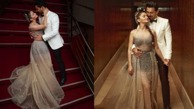 Rubina Dilaik and Abhinav Shukla Look Picture Perfect at Their Wedding Reception – View Pics