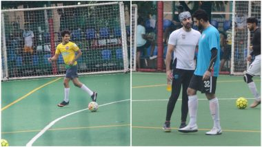 Ranbir Kapoor, Abhishek Bachchan, Ishaan Khatter, Jim Sarbh Get Into The Soccer Fever As They Play Ball - View Pics