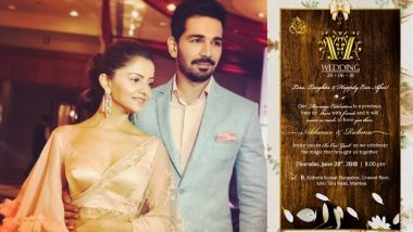 Rubina Dilaik – Abhinav Shukla's Wedding Reception Invite Is Out and It Is Gorgeous – View Pic
