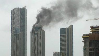 Mumbai Fire: Blaze on BeauMonde Tower in Prabhadevi Continues to Rage, Firefighters Working Hard to Douse it