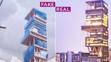 Antilia covered with Blue Polythene? Fake Pictures of Mukesh Ambani's House Goes Viral Again, Amidst Monsoon & Plastic Ban