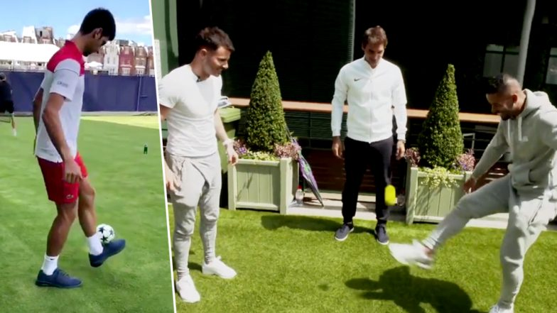 Novak Djokovic, Andy Murray, Garbiñe Muguruza & Roger Federer Display Football Skills Ahead of Wimbledon 2018; Watch Video