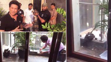 Watch Video: Master Blaster Sachin Tendulkar Feeding a Dehydrated Bird