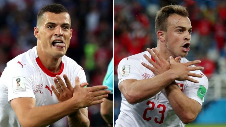 2018 FIFA World Cup: Switzerland's Granit Xhaka & Xherdan Shaqiri to Face Ban for Their Gestures After Celebrating Goal Against Serbia