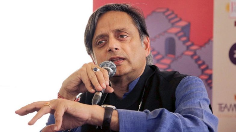 Shashi Tharoor Office Vandalised Over 'Hindu Pakistan' Remark, Congress MP Blames BJP Yuva Morcha