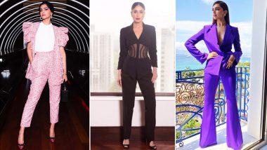 Deepika Padukone, Kareena Kapoor Khan, Priyanka Chopra and Other Bollywood Divas Are Rocking the Pantsuit Trend: View Pics