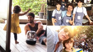 Father's Day 2018 Special: Shah Rukh Khan, Hrithik Roshan, Shahid Kapoor, Check Out Adorable Pictures of Bollywood's 12 Most Doting Dads