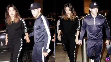 Priyanka Chopra and Nick Jonas Head Back to US, Hand In Hand, After Vacationing in India (View Pics)