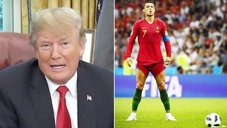Donald Trump Jokes About Portugal Star Cristiano Ronaldo; US President Has a Foot in the Mouth Moment Watch Video