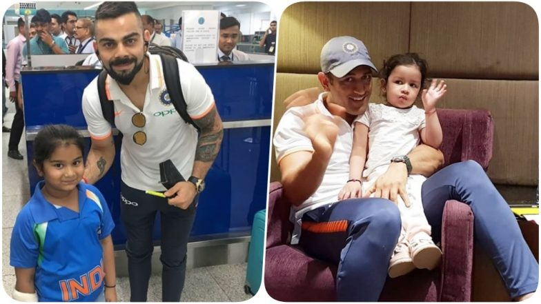 India Tours UK 2018 Pics: Virat Kohli Poses With a Young Fan As Ziva Chills With Papa MS Dhoni