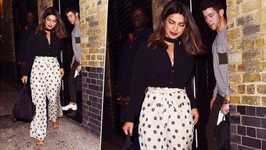 Priyanka Chopra Blushes As She Walks With Boyfriend Nick Jonas on Her Birthday Date Night in London! (View Pics)