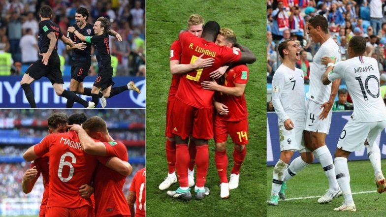 Ahead of the 2018 FIFA World Cup Semifinals, Here's a look at Favourites in France vs Belgium and Croatia vs England to Qualify for the Final