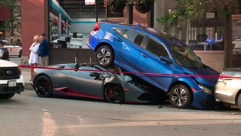 Watch Video: Lamborghini Huracan Spyder Takes Honda Civic for a Ride – Literally