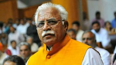 Haryana Assembly Election Results 2019: Chief Minister Manohar Lal Khattar Leading by 44,868 Votes in Karnal