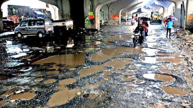 Pothole Shocker! Mumbai Couple Hits a Pothole in Wadala, Sustain Injuries