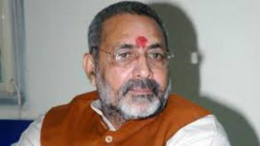 'Vande Mataram For Burial Land': Giriraj Singh Booked For Violating Model Code of Conduct