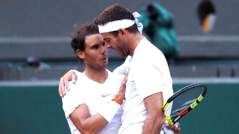 Rafael Nadal Wins Hearts Post Epic Match Against Del Potro With His Sportsmanship Spirit at Wimbledon 2018, Watch Video