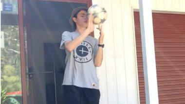 Australian Teenager Jed Hockin Sets Double World Record for Football 'Trickshots', Watch Video