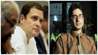 Rahul Gandhi Writes to Shah Faesal, Expresses Solidarity With the IAS Officer