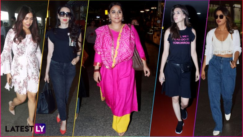 Move Over Priyanka Chopra and Kriti Sanon, It's Vidya Balan's Devil-May-Care Airport Look That Wins Our Hearts (See Pics)