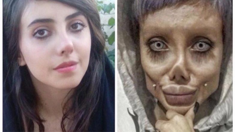 Sahar Tabar Makeup >> Angelina Jolie ' Zombie Look Alike' Iranian Beauty Sahar Tabar Reveals How She Looks Like ...