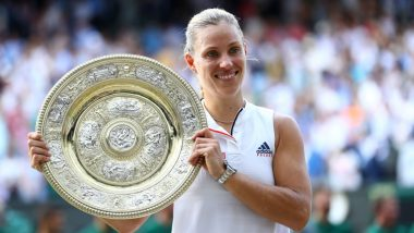 Wimbledon 2018 Women's Singles Final: Angelique Kerber Ends Serena Williams' Dream Run, Beats Her in Straight Sets to Lift the Title