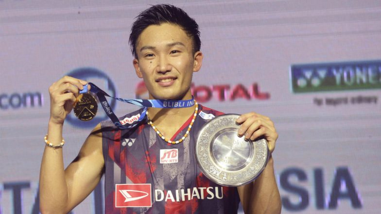 Kento Momota of Japan Wins 2018 Indonesia Open Badminton Tournament