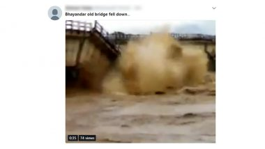 Bhayandar Old Bridge Collapse News is Fake, Video Going Viral is From Bihar