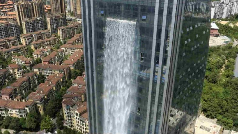 World's Largest Man-Made Waterfall in China Comes Under Social Media Scrutiny (Watch Video)