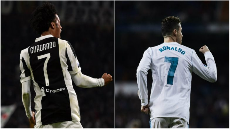 Juan Cuadrado Handed Juventus No.7 Shirt to Cristiano Ronaldo