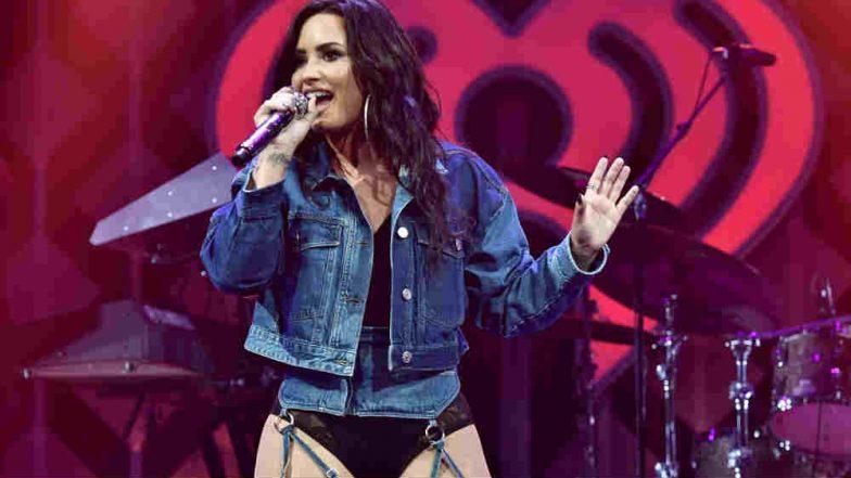 Singer Demi Lovato Steps Out of Rehab, Looks Sober