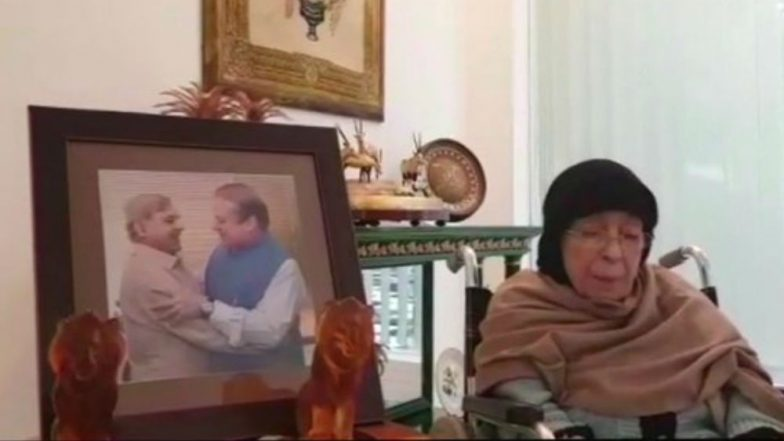 Nawaz Sharif's Mother Shamim Akhtar Gets Emotional Over Son's Return to Pakistan, Says If Sent to Jail, She Would Accompany Him