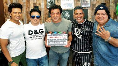 Housefull 4: Akshay Kumar, Bobby Deol and Riteish Deshmukh Begin Shooting for Sajid Khan's Comic Caper