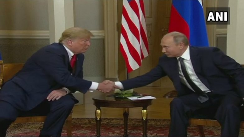 Donald Trump Meets Vladimir Putin in Helsinki, Blames 'Years of US Foolishness' for Souring Relationship With Russia
