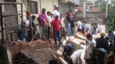 Maharashtra: Five Injured After Building Collapses Near Pune's Keshavnagar in Mundhwa, Two Suspected to Be Trapped