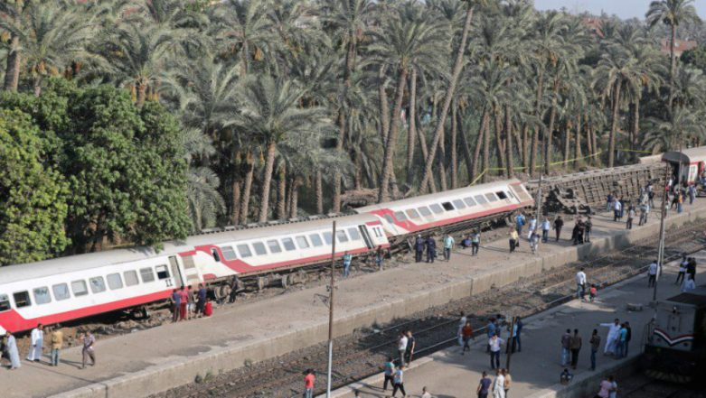 Egypt Train Accident: 55 Injured as Train Derails in Giza Province